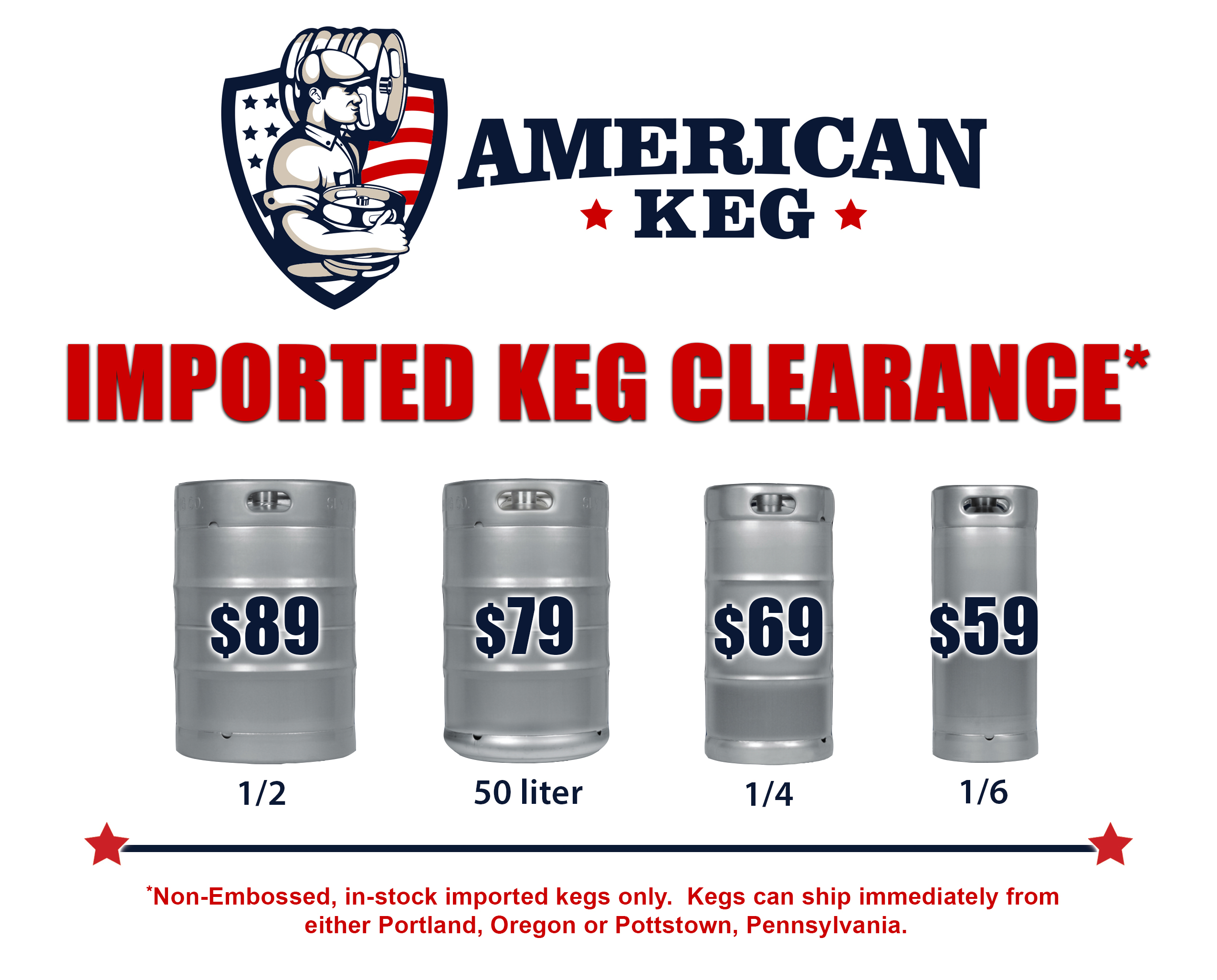 Imported Keg Clearance v2